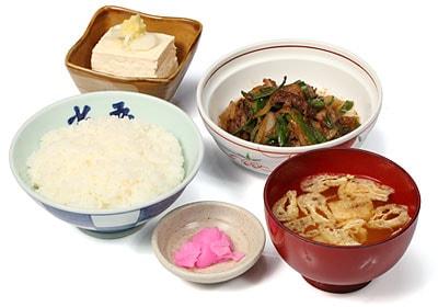 鶏モツ炒め定食
