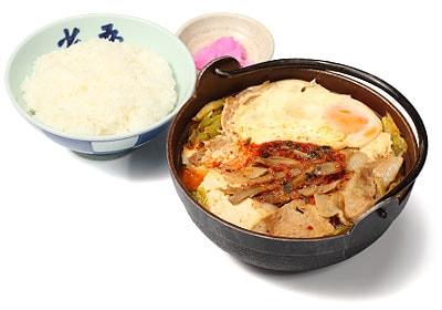 キムチ鍋定食